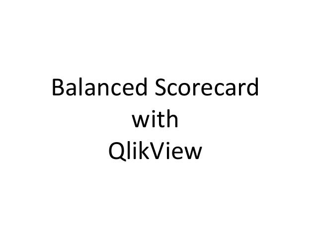 Balanced Scorecard with QlikView