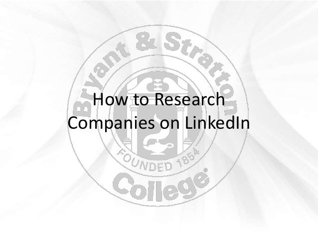 How to ResearchCompanies on LinkedIn