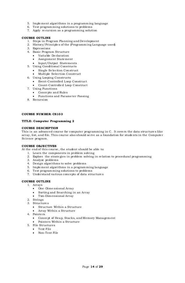 thesis tungkol sa kursong computer science