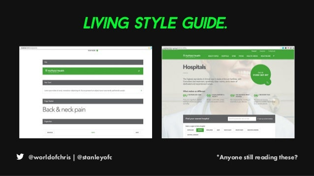 @worldofchris | @stanleyofc *Anyone still reading these? Living style guide.