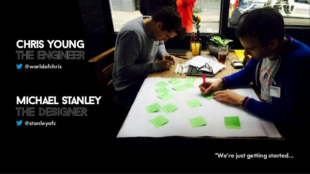 *We're just getting started... @worldofchris @stanleyofc Chris Young the engineer Michael Stanley the DesignER