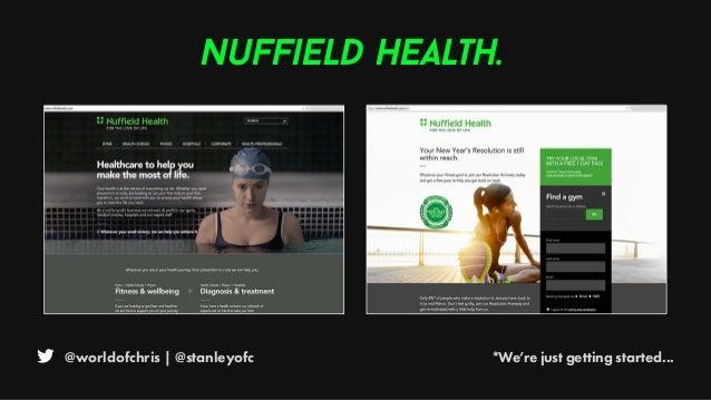 @worldofchris | @stanleyofc *We're just getting started... Nuffield Health.