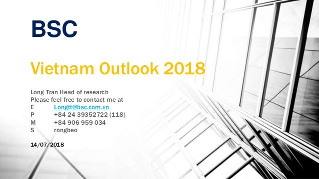Bsc vietnam outlook 2018 2019