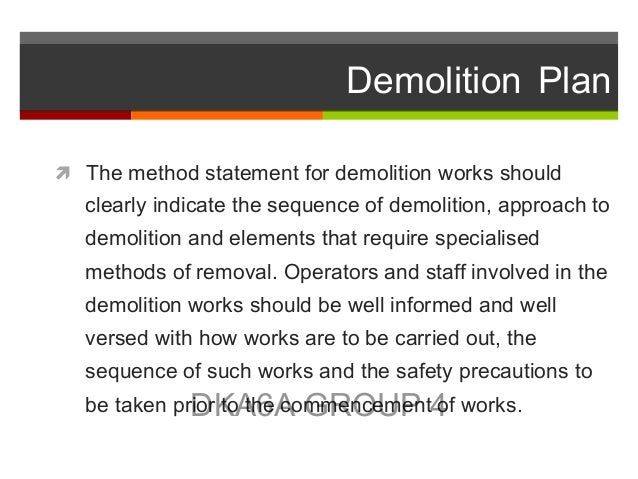 how to do a demolition work plan
