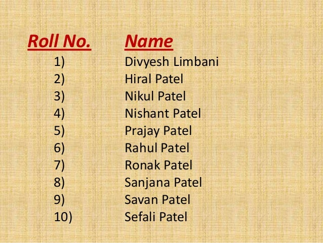 Bse for Patel name meaning