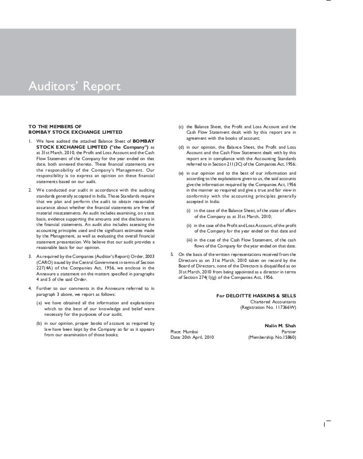 Auditors' ReportTO THE MEMBERS OF                                                       (c) the Balance Sheet, the Profit ...