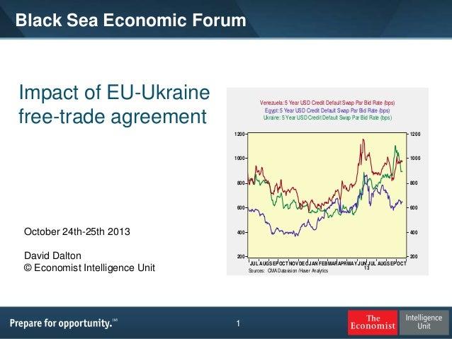 Black Sea Economic Forum  Impact of EU-Ukraine free-trade agreement  Venezuela: 5 Year USD Credit Default Swap Par Bid Rat...