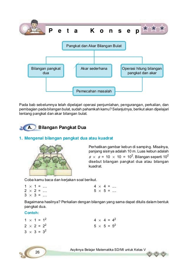 Soal Sd Bilangan Bulat Bilangan Bulat Berpangkat Dan Soal Pembahasannya Matematika Sd Melakukan