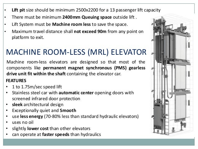 elevator system in delhi metro stations MRL Elevator machine room less elevators