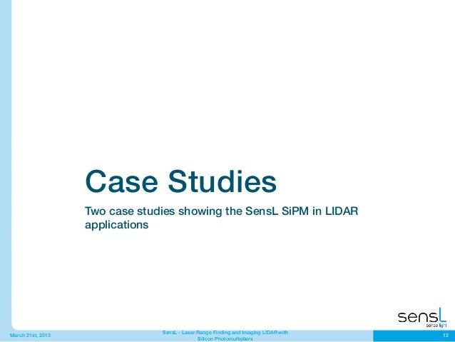 Automotive Lidar With Sensl Sipm Sensors