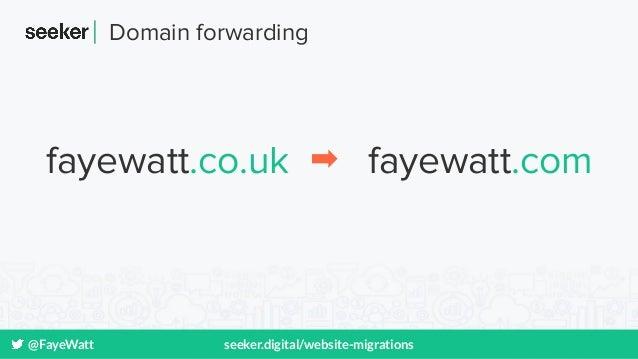 @FayeWatt seeker.digital/website-migrations fayewatt.co.uk fayewatt.com Domain forwarding