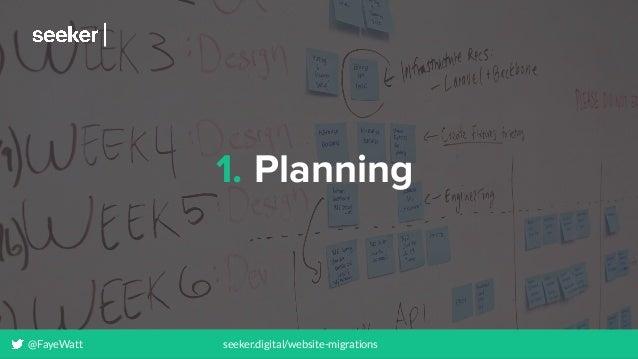 @FayeWatt seeker.digital/website-migrations 1. Planning