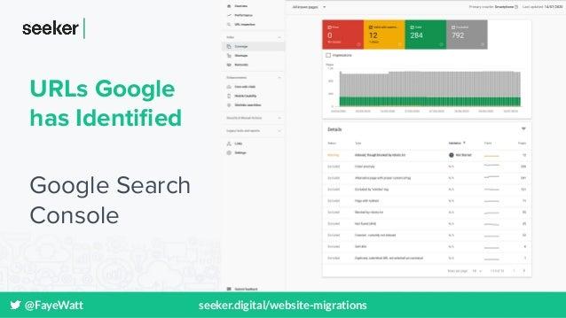 @FayeWatt seeker.digital/website-migrations URLs Google has Identified Google Search Console