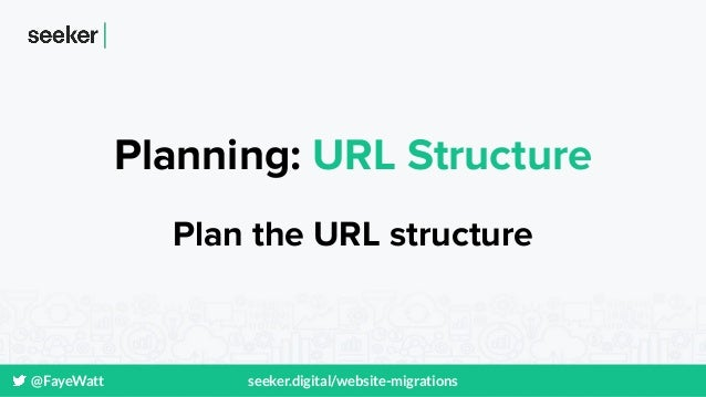 @FayeWatt seeker.digital/website-migrations Planning: URL Structure Plan the URL structure