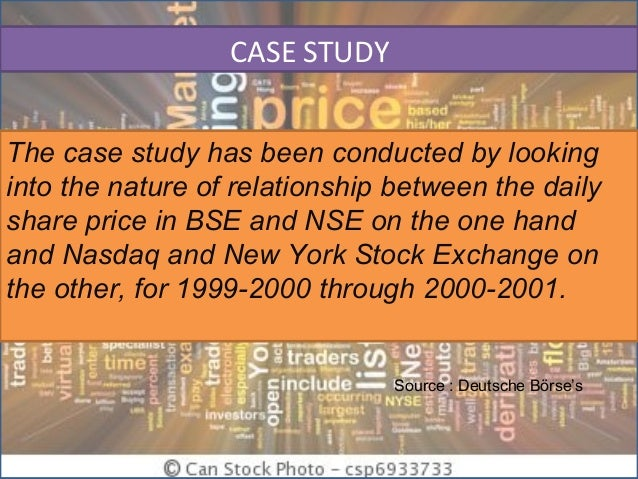 a study of nse with nasdaq The power (law) of indian markets: analysing nse and bse trading statistics will also mention in brief our study of a particular indian market index (after nasdaq and nyse) in terms of transactions [8.