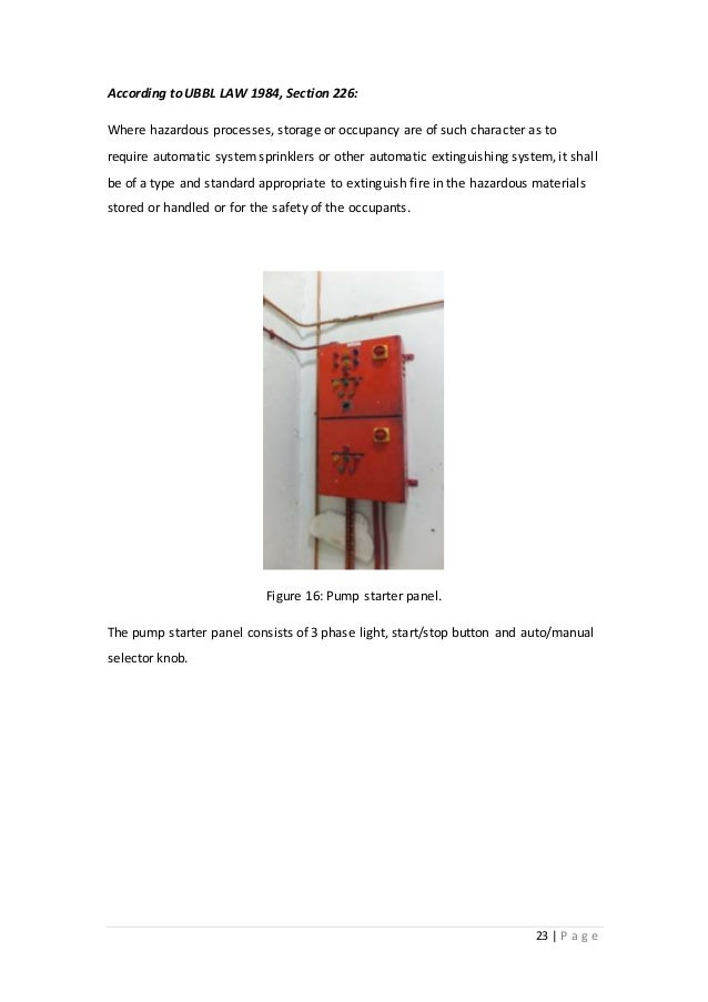 Fire Pump Service Room Is What Occupancy
