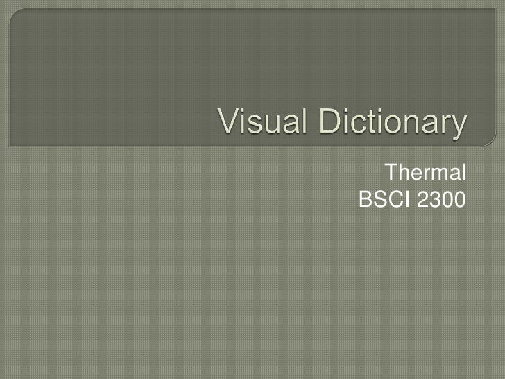 Visual Dictionary<br />Thermal<br />BSCI 2300<br />