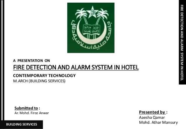 FIRE DETECTION AND ALARM SYSTEM IN HOTEL