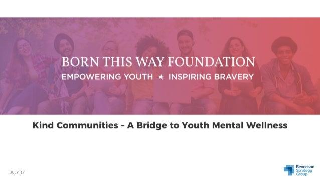 Kind Communities - A Bridge To Youth Mental Wellness
