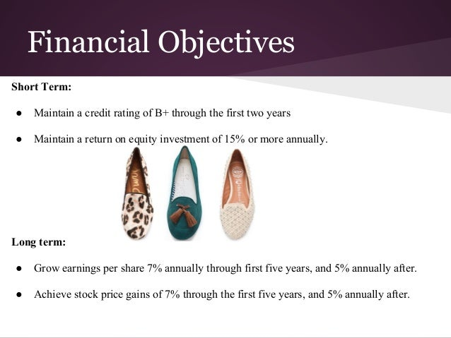 marketing objectives of a shoe company This sample marketing plan for a hypothetical company illustrates how the marketing planning process described in  c current marketing objectives and performance.