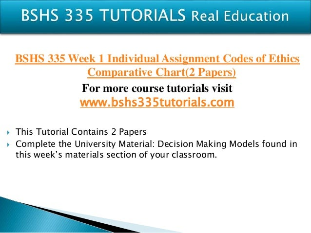 bshs 335 week 1 dq2 View test prep - bshs 335 week 2 dq 1 from bshs 335 at university of phoenix what are the limits to confidentiality describe a situation in which you might breach confidentiality what are the.