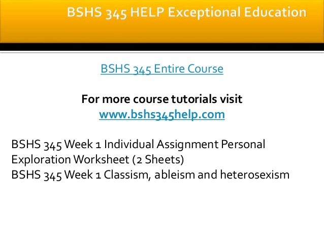 Bshs 375 wk 1 individual assignment