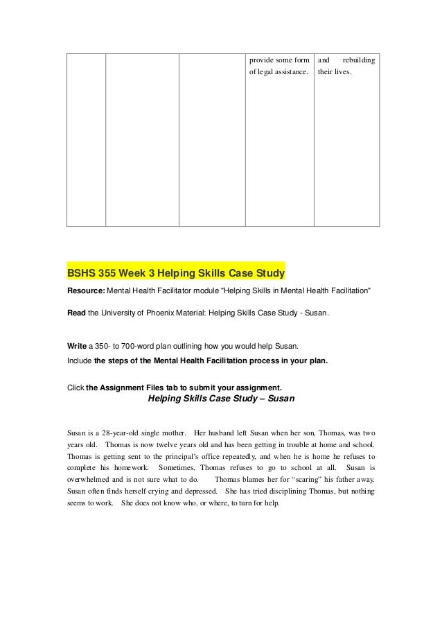 bshs 355 week 3 Study business 0000 bshs 355 week 3 helping skills case study (2 papers)doc notes from homeworkflip t.