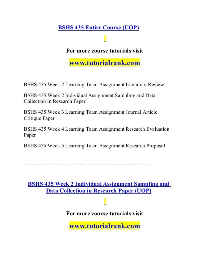 literature review bshs 435