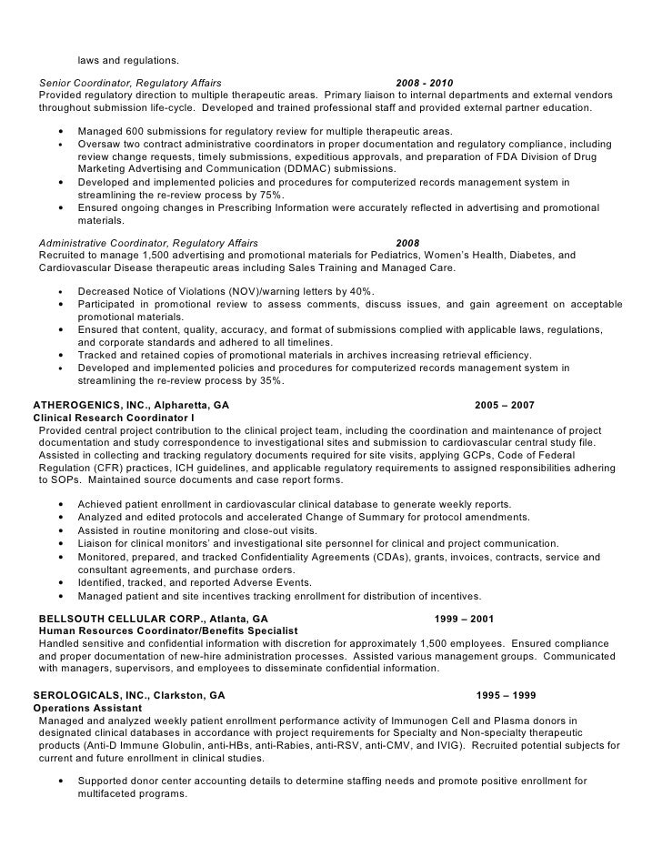 Regulatory Affairs Resume Sample] Professional Regulatory Affairs