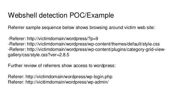 Detection of webshells in compromised perimeter assets using ML algor…