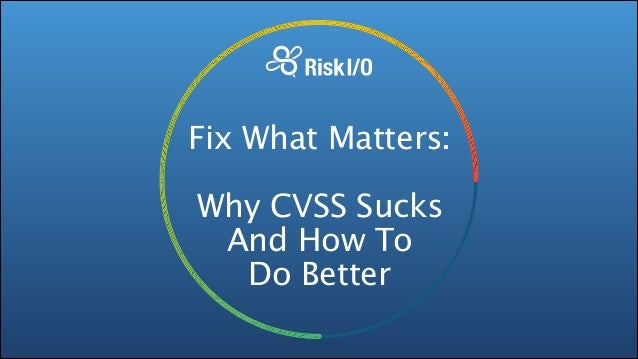 Fix What Matters: