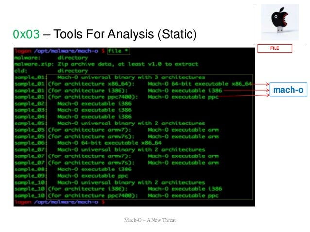 0x03 – Tools For Analysis (Static) mach-o FILE Mach-O – A New Threat