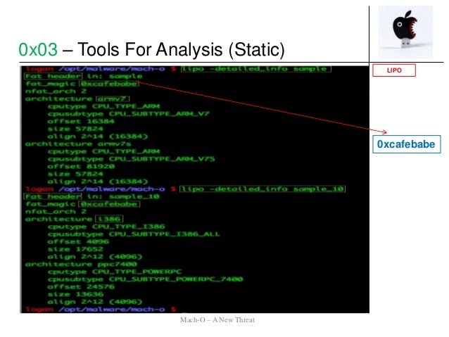 0xcafebabe LIPO 0x03 – Tools For Analysis (Static) Mach-O – A New Threat