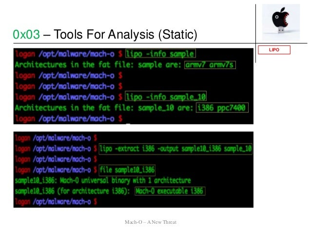LIPO 0x03 – Tools For Analysis (Static) Mach-O – A New Threat