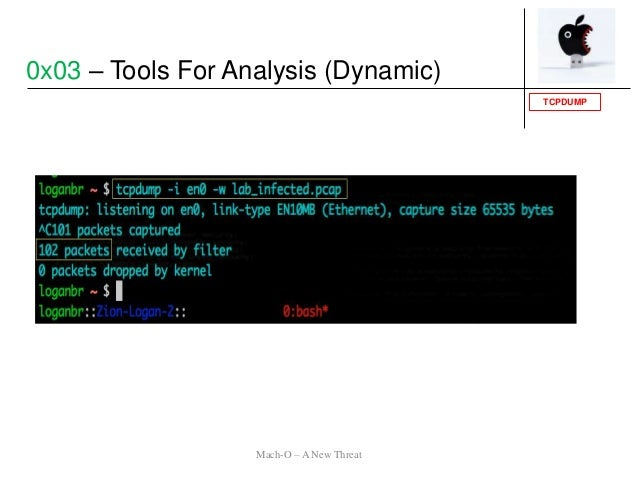 TCPDUMP 0x03 – Tools For Analysis (Dynamic) Mach-O – A New Threat