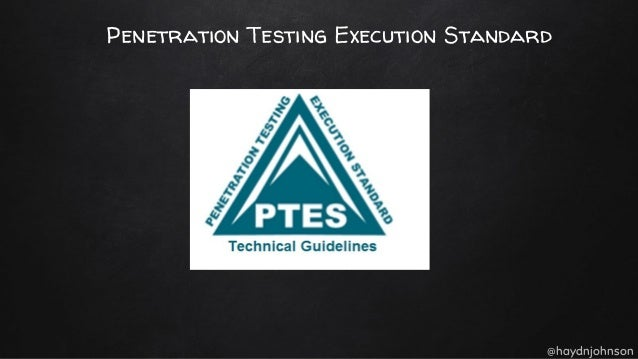 penetration testing execution standard