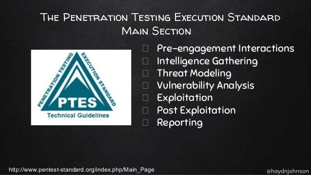 penetration testing execution standard pdf