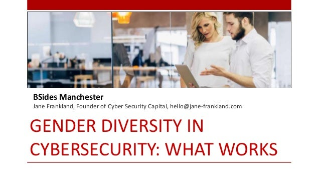 GENDER DIVERSITY IN CYBERSECURITY: WHAT WORKS BSides Manchester Jane Frankland, Founder of Cyber Security Capital, hello@j...
