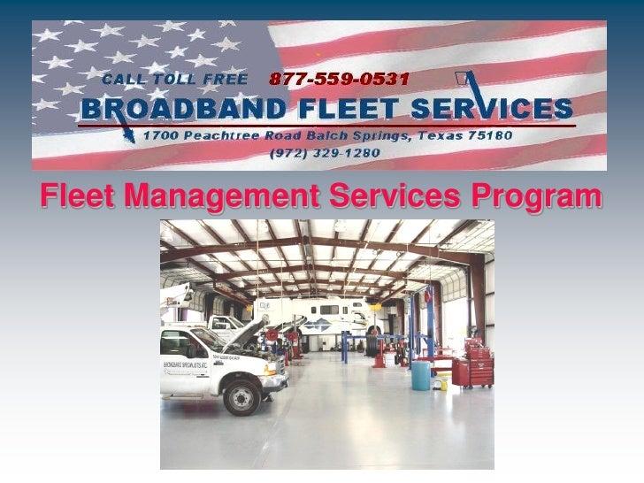 Fleet Management Services Program
