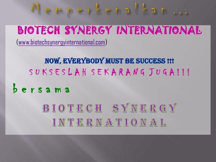 Bio Tech Synergy International Marketing Plan