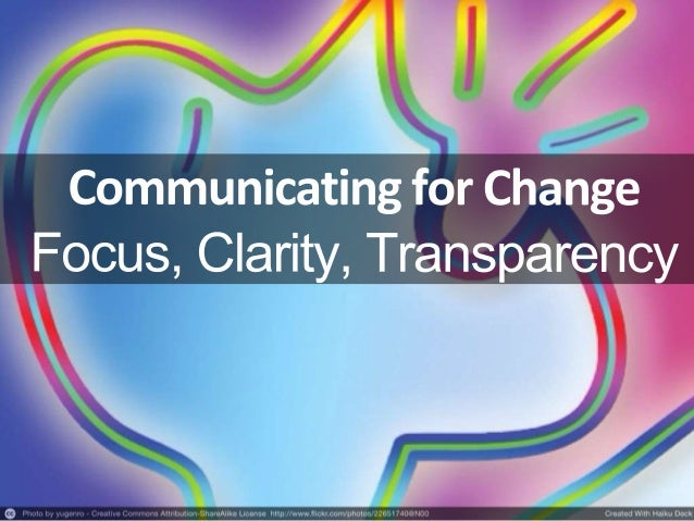 ProblemsWith andSolutionsFor: Focus Clarity Transparency