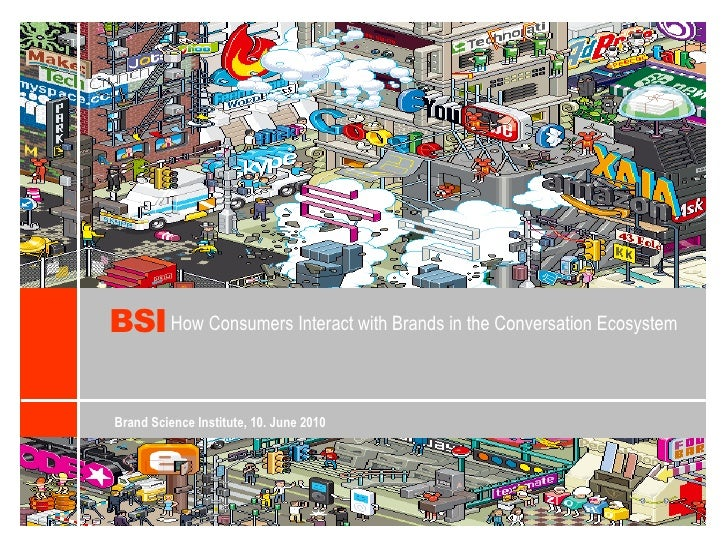 BSI<br />HowConsumersInteractwith Brands in theConversationEcosystem<br />Brand Science Institute, 10. June 2010<br />