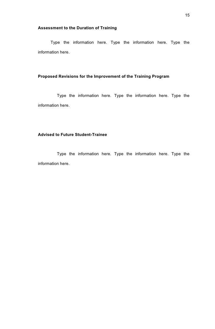 bsit narrative report format  15