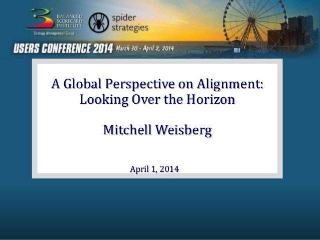 A Global Perspective on Alignment: Looking Over the Horizon Mitchell Weisberg April 1, 2014