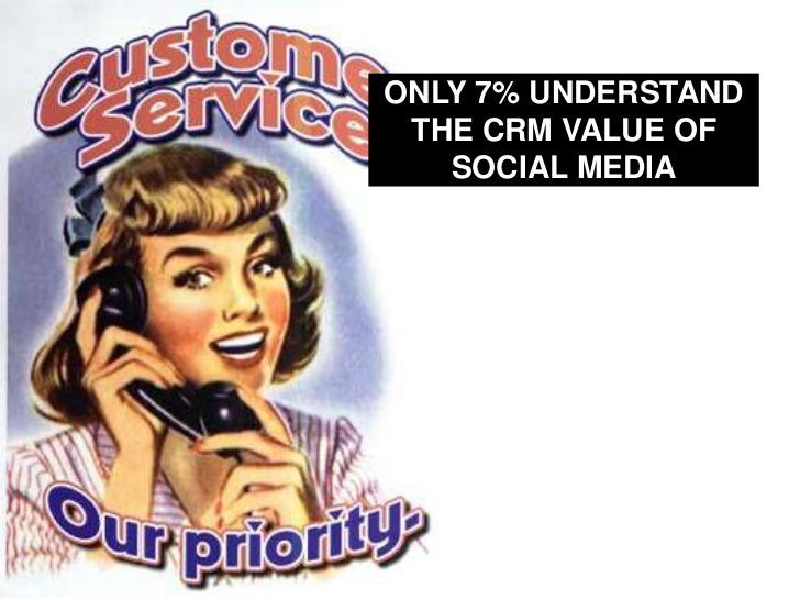 ONLY 7% UNDERSTAND THE CRM VALUE OF SOCIAL MEDIA<br />