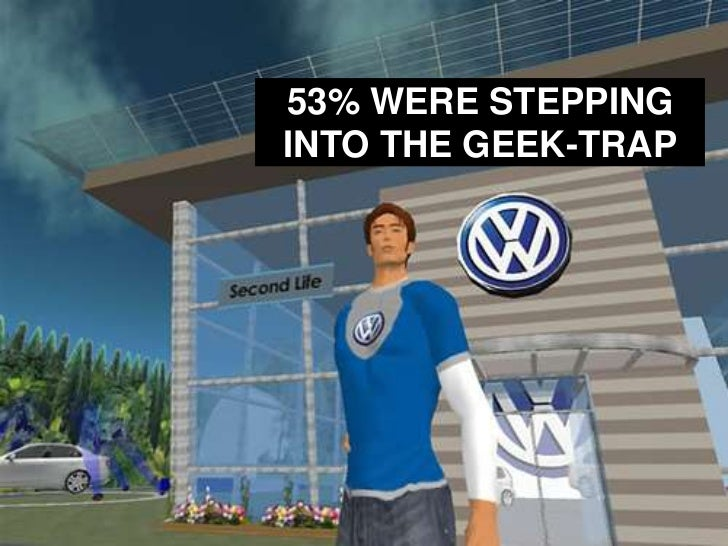 53% WERE STEPPING INTO THE GEEK-TRAP<br />