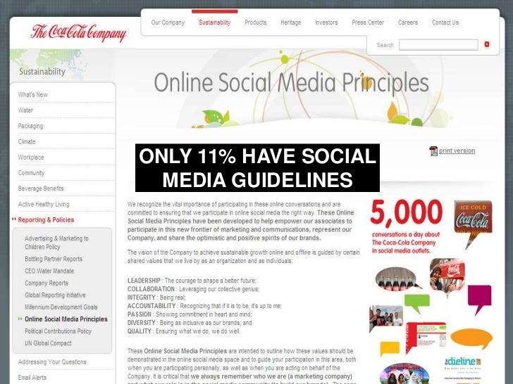 ONLY 11% HAVE SOCIAL MEDIA GUIDELINES<br />