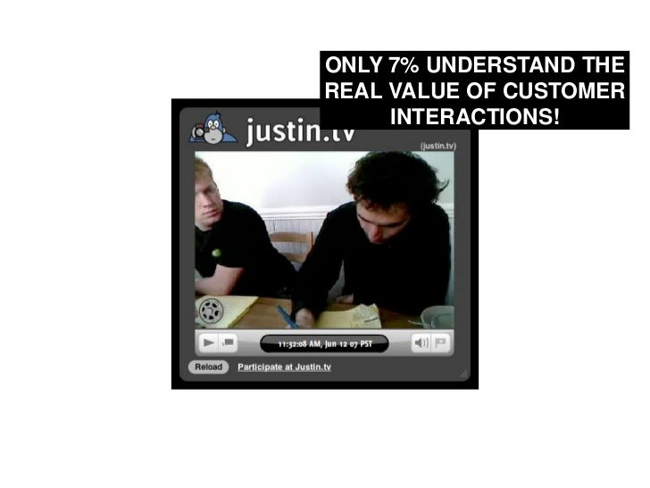 ONLY 7% UNDERSTAND THE REAL VALUE OF CUSTOMER INTERACTIONS!<br />
