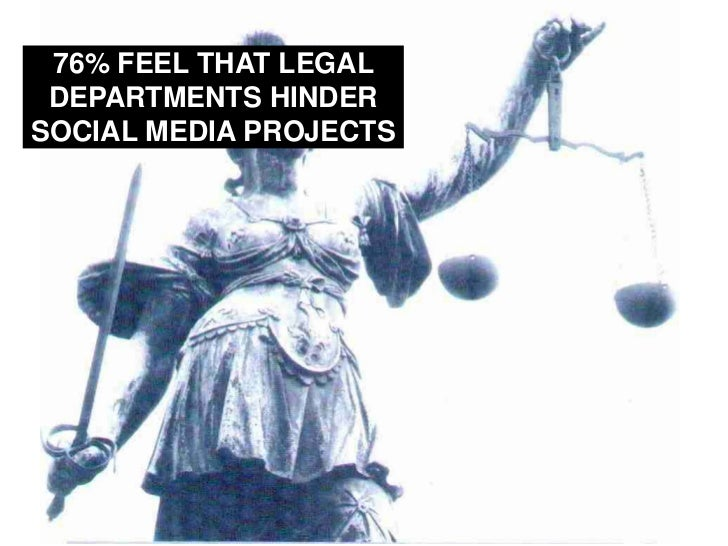 76% FEEL THAT LEGAL DEPARTMENTS HINDER SOCIAL MEDIA PROJECTS <br />