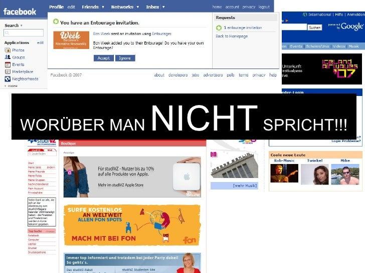 WORÜBER MAN  NICHT  SPRICHT!!!